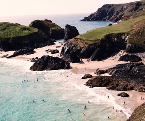 beach, Cornwall, and summer image