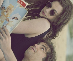 Anne Hathaway, book, and couple image
