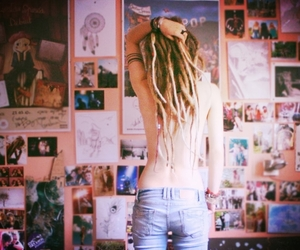 dreads, beautiful, and girl image