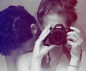 love, boy, and camera image