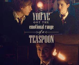 harry potter, quote, and ron image