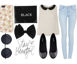 Polyvore, denim, and fashion image