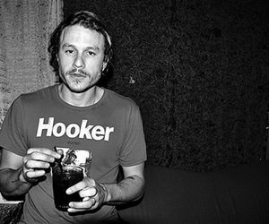 heath ledger, hooker, and black and white image