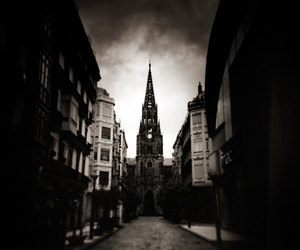 b&w, black and white, and cathedral image