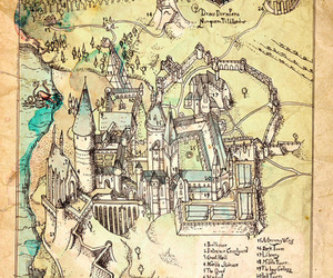 explore, map, and harry potter image