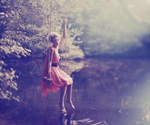 girl, photography, and lake image