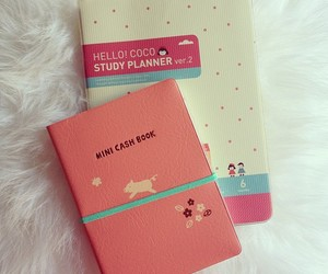 pink, planners, and cute image