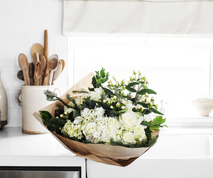 flowers, kitchen, and decor image