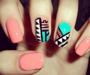 tribal and nails image