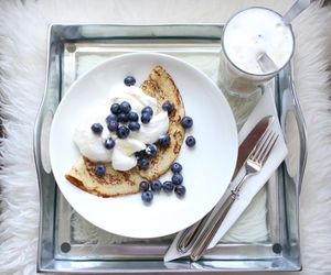 blueberries, fitness, and breakfast image