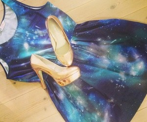 dress, universe, and shoes image