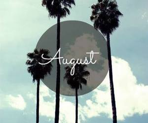 August, summer, and palms image
