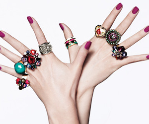 rings, hands, and nails image
