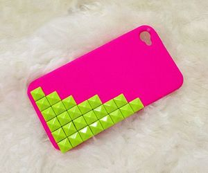girly, phone case, and neon image
