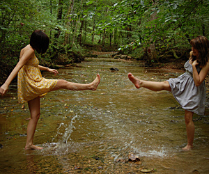 friendship, girl, and water image
