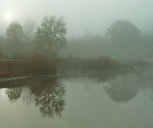 baroque, fog, and lake image
