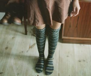 girl, vintage, and socks image