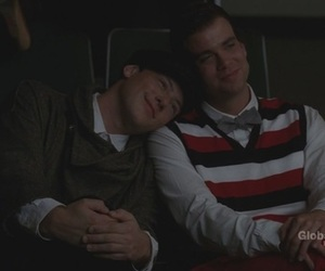 finn, puck, and glee image