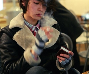 asian, boy, and cigarette image