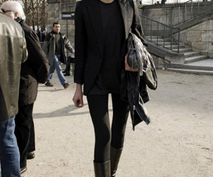 ankle boot, black, and fashion image