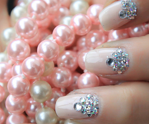 girls, nails, and pearls image
