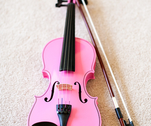 pink, music, and violin image