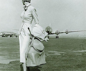aviation, lady, and plane image
