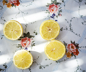 lemon, vintage, and fruit image
