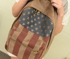 american, backpack, and canvas image