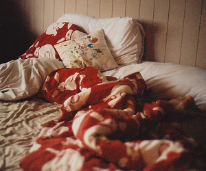 bed, vintage, and hipster image