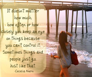 beach, quotes, and cecelia ahern image