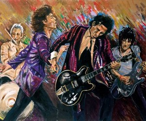 art, beautiful, and rolling stones image