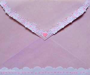 pink, Letter, and pastel image
