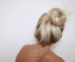 back, blond hair, and fashion image