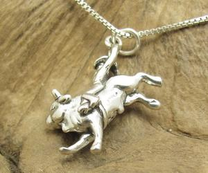 bull, necklace, and silver image