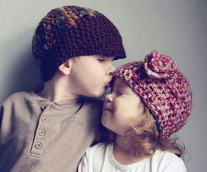 love, cute, and kiss image