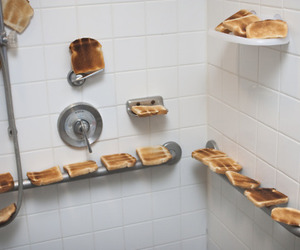 toast, shower, and bread image