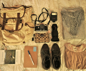 camera, shoes, and vintage image