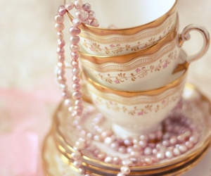 pearls, cup, and pink image
