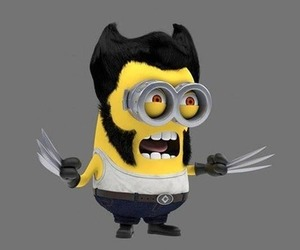 minions, wolverine, and despicable me image