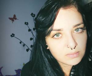 goodmorning girl me, crazy hipster sadness, and eyes piercing nomakeup image