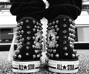 converse, black, and all star image