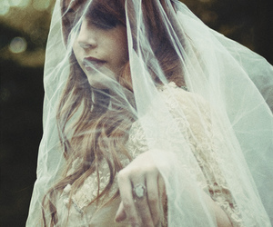 black and white and veil image