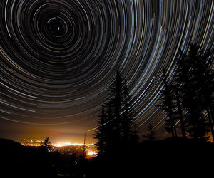 oregon and star trails image