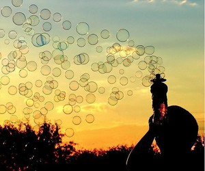 bubble, girl, and photography image