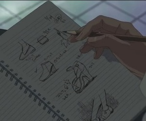 anime, draw, and the garden of words image