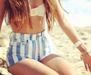 fashion, shorts, and beach image