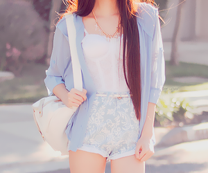 outfit, blue, and kfashion image