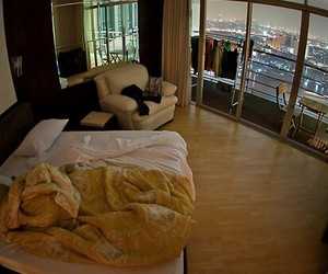 bedroom and city image