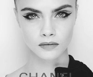 black and white, girl, and chanel image